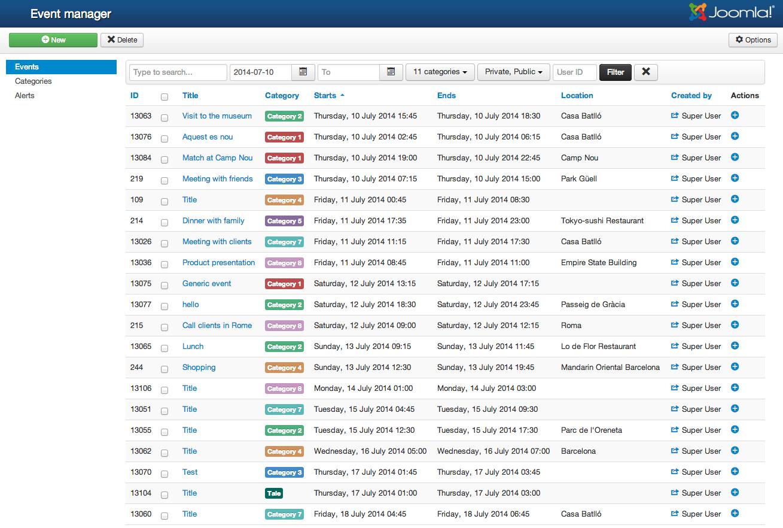 calendar planner calendar events management joomlathat
