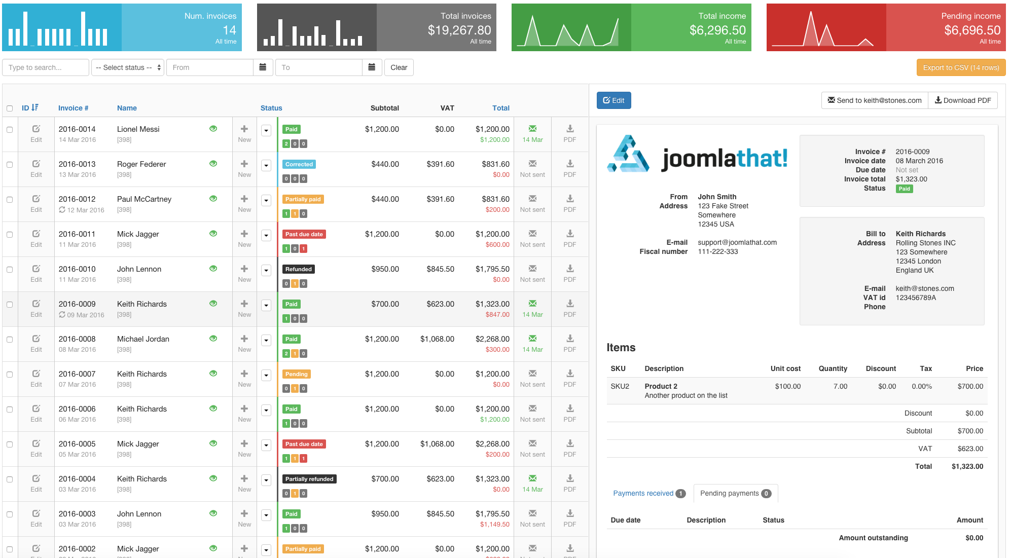 Invoice Manager || Invoice & Billing Creator & Manager - JoomlaThat!