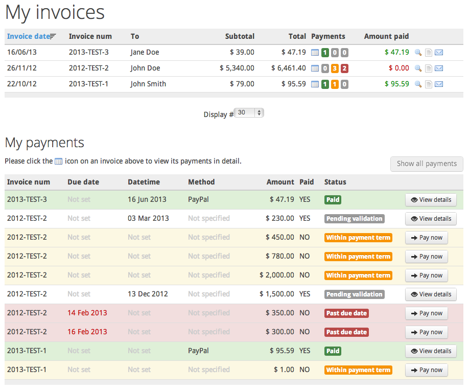 invoice manager invoice billing creator manager joomlathat